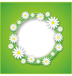 Abstract spring or summer background with flower vector image vector image