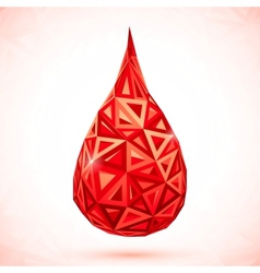 Abstract triangles drop of blood vector image