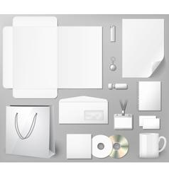 Blank corporate identity template vector