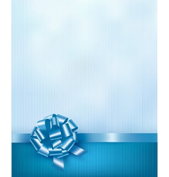 Blue holiday background with gift glossy bow and vector image
