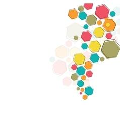 Color molecular structure vector image