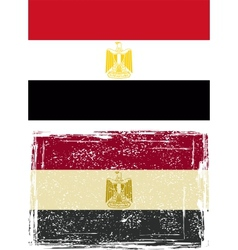 Egyptian grunge flag vector image vector image