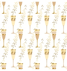 Elegant light seamless pattern with sparkling wine vector