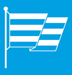 Flag lgbt icon white vector