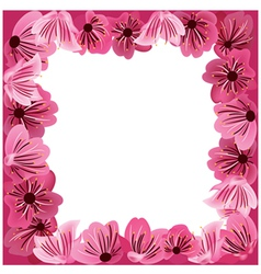 flowers frame floral background vector image vector image