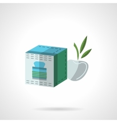 Fruit tea pack flat color icon vector