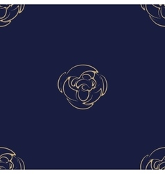 Golden Luxury flower pattern on dark background vector image