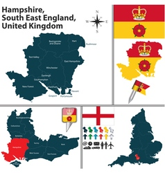 Hampshire south east england vector