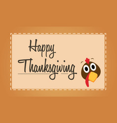 Happy thanksgiving turkey background card vector