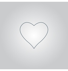 Heart pictogram vector image vector image