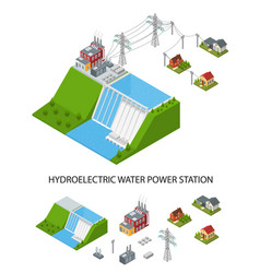 Hydroelectricity power station and element set vector