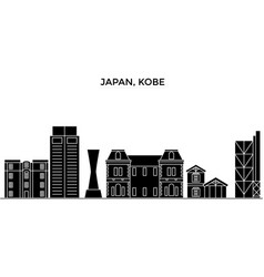 Japan kobe architecture city skyline vector