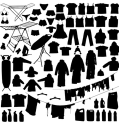 laundry silhouettes vector image vector image