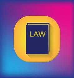 Law book icon set of laws symbol of justice vector