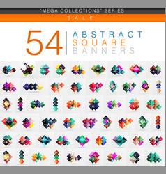 Mega collection of 54 square geometrical web vector