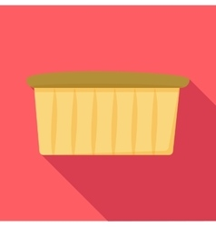 Muffin icon flat style vector