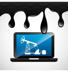 Oil prices online industry vector