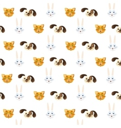 Pattern pets cute background vector