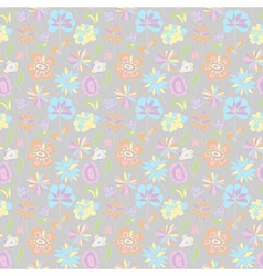 PatternOfPastelColorsOnGrayBackground vector image