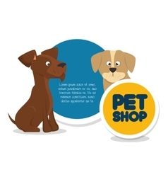 Pet shop template and dog cat vector