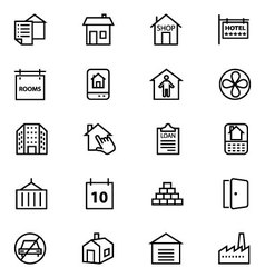 Real Estate Line Icons 4 vector image