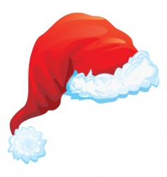 red hat of santa claus vector image vector image