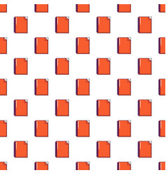 red notebook pattern seamless vector image vector image