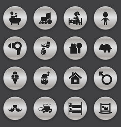set of 16 editable relatives icons includes vector image vector image