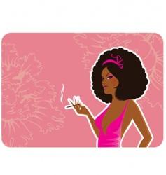 smoke women vector image