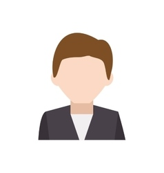 Man suit male avatar head person icon vector