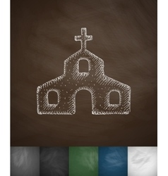 Church icon hand drawn vector