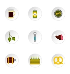 Alcohol icons set flat style vector
