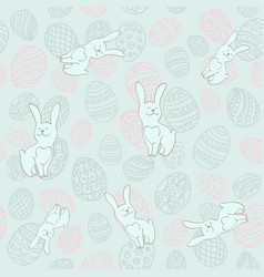Seamless background to easter with eggs and vector