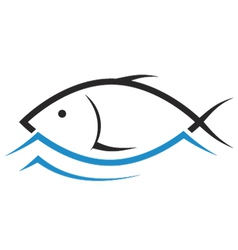 design of fish vector image