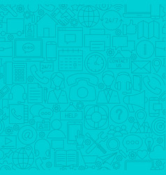 Contact us line tile pattern vector