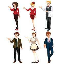 Six people with different professions vector