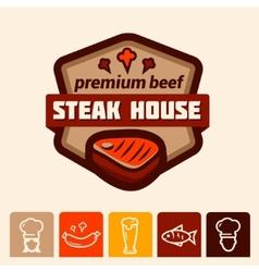 steak house logo vector image