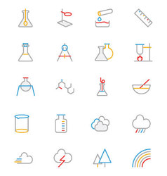 Science colored outline icon 6 vector