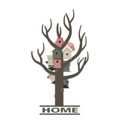 Card with nesting boxes on the tree vector