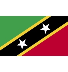 Saint kitts and nevis flag image vector