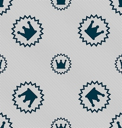 Rown icon sign seamless pattern with geometric vector