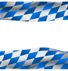 Background with bavarian flag vector