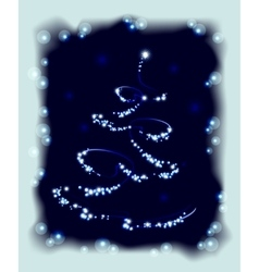 Abstract Christmas tree in frame EPS10 vector image vector image