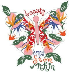 Beauty comes from within vector