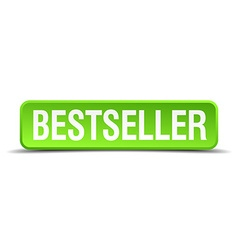 Bestseller green 3d realistic square isolated vector