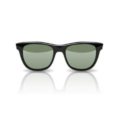 Black glasses isolated on white vector