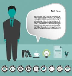Business idea infographic with icons person coffee vector