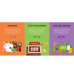 Casino Gambling Website Templates Set vector image