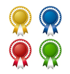 colored rosettes with ribbon vector image