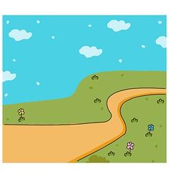 Cute landscape background vector image vector image